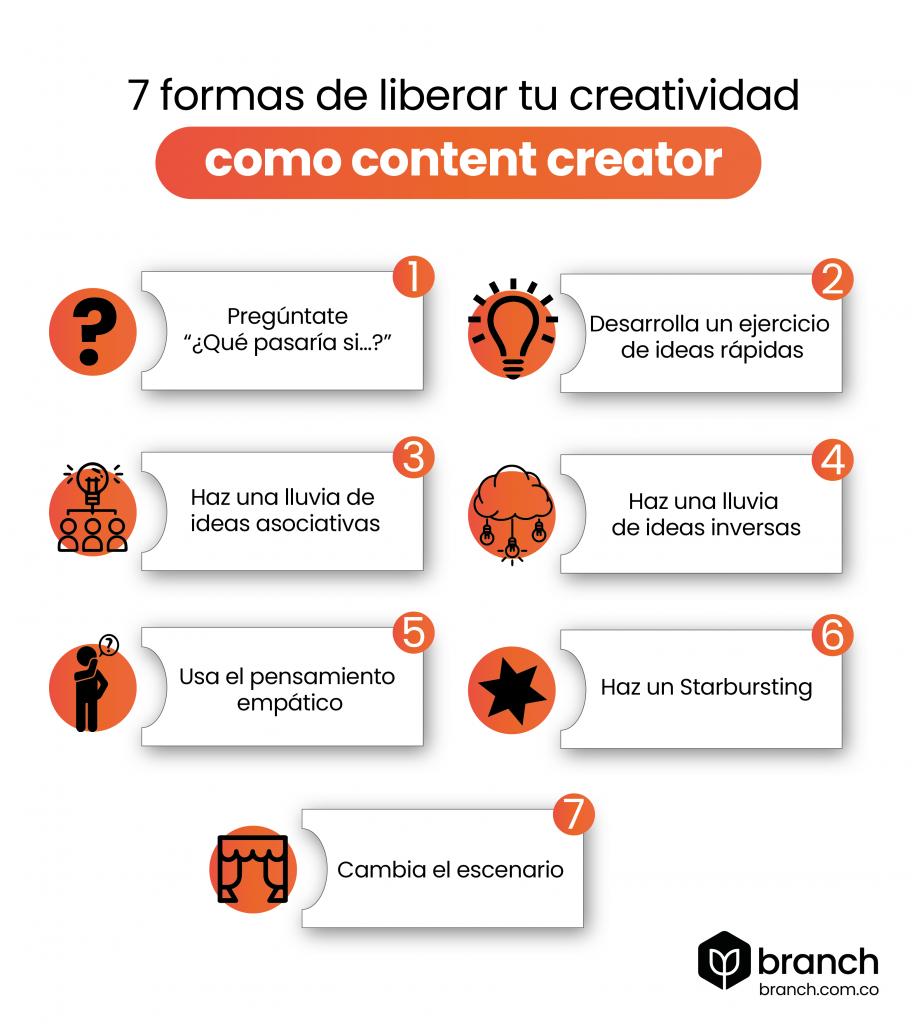 infografia-7-formas-de-liberar-tu-creatividad-como-content-creator